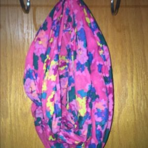 Women's pink infinity scarf